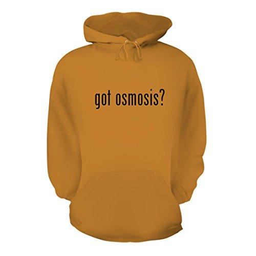 got osmosis? - A Nice Men's Hoodie Hooded Sweatshirt, Gold, X-Large