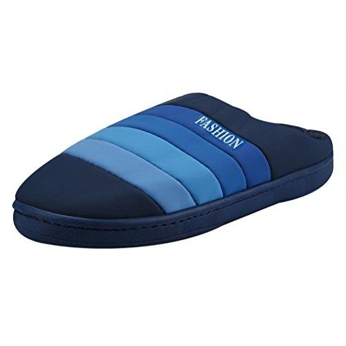 Stivali Invernali Da Uomo, Pantofole Morbide Per La Casa, Pantofole Imbottite Di Cotone Blu
