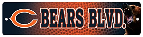 NFL Chicago Bears High-Res Plastic Street Sign