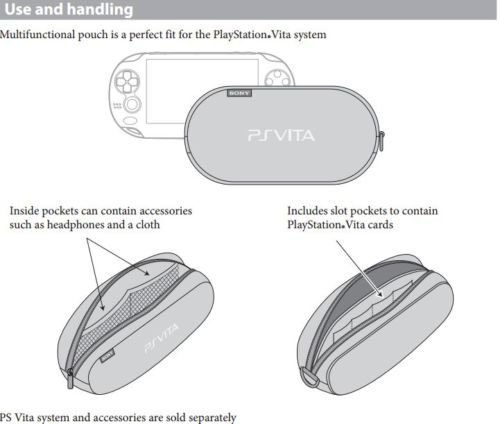OFFICIAL Sony Playstation PS Vita Soft Travel Pouch Carry