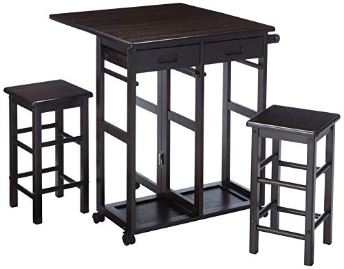 Winsome Wood 23330 Suzanne 3-PC Set Space Saver Kitchen, Smoke by Winsome Wood (Image #1)