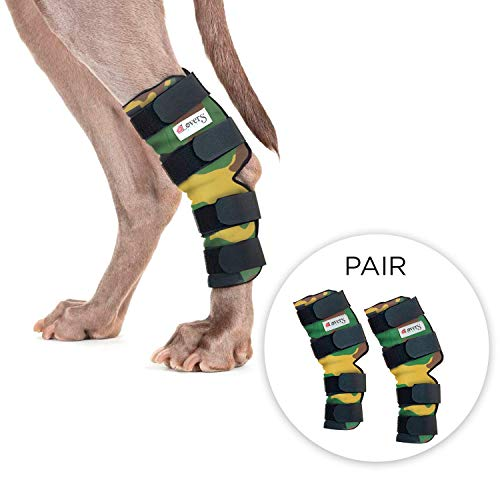 Pet Lovers Stuff Dog Hock Brace for Rear Legs - Ideal Support Wraps for Dogs with Arthritis in Joints, Strains, Wound Healing, Loss of Stability (Medium)