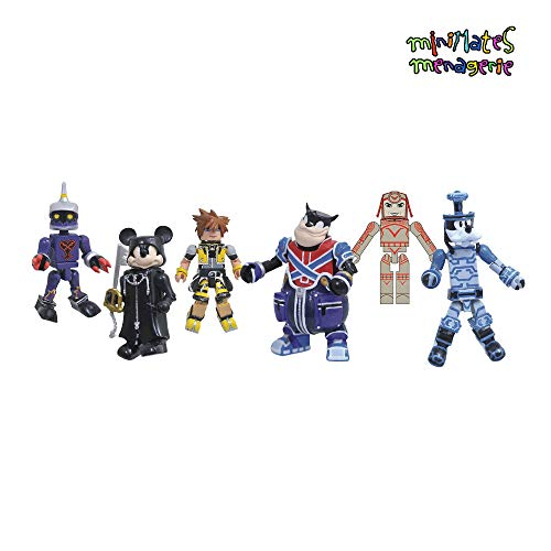 - Minimates Kingdom Hearts Series 2 Complete Set of Three 2-Packs (6 Figures) Organization 13 Mickey, Soldier, Master Form Sora, Pete, Space Paranoids Goofy & Sark