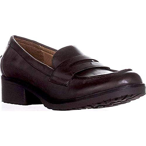 BareTraps Womens Oliva Leather Round Toe Loafers, Brown, Size 6.0 ()