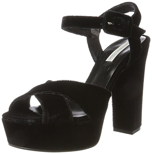nero Femme Plateforme Noir Thuile Sandales C99 Tosca Blu w8Fv77