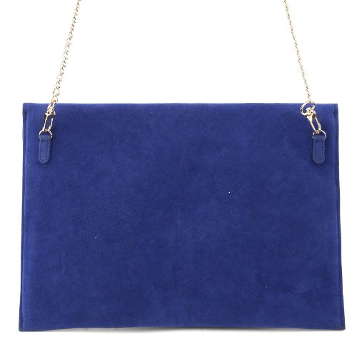 Bolso de mano en ante sintético y piel sintética Color Azul