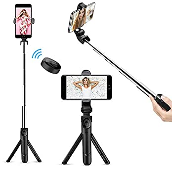 Selfie Stick Bluetooth, Doosl Selfie Stick Tripod – Extendable Tripod Stick with Remote – Facetime Phone Stand, Wireless…