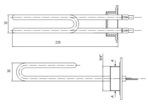 Heizstab f/ür Wasserspeicher 2000 W 230V 5//4