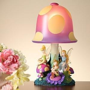 Disney Tinkerbell Tinker Bell Fairies Mushroom Lamp Light