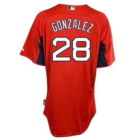Adrian Gonzalez Boston Red Sox Majestic Authentic Cool Base On Field Batting Practice (Gonzalez Jersey)