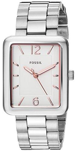 Fossil Women's ES4157 Atwater Three-Hand Stainless Steel (3 Steel Ladies Watch)