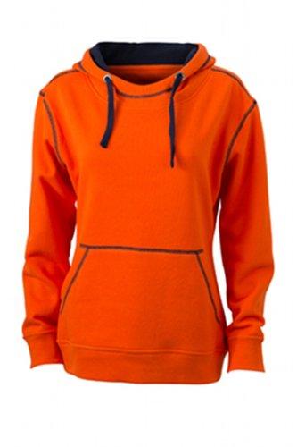 amp; orange James Felpa Arancione Hoody navy Kapuzensweatshirt Nicholson Donna Lifestyle Ladies' dark wq1Fq