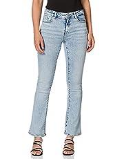 ONLY dames Jeans Onlhush Life Mid Flared Azg871