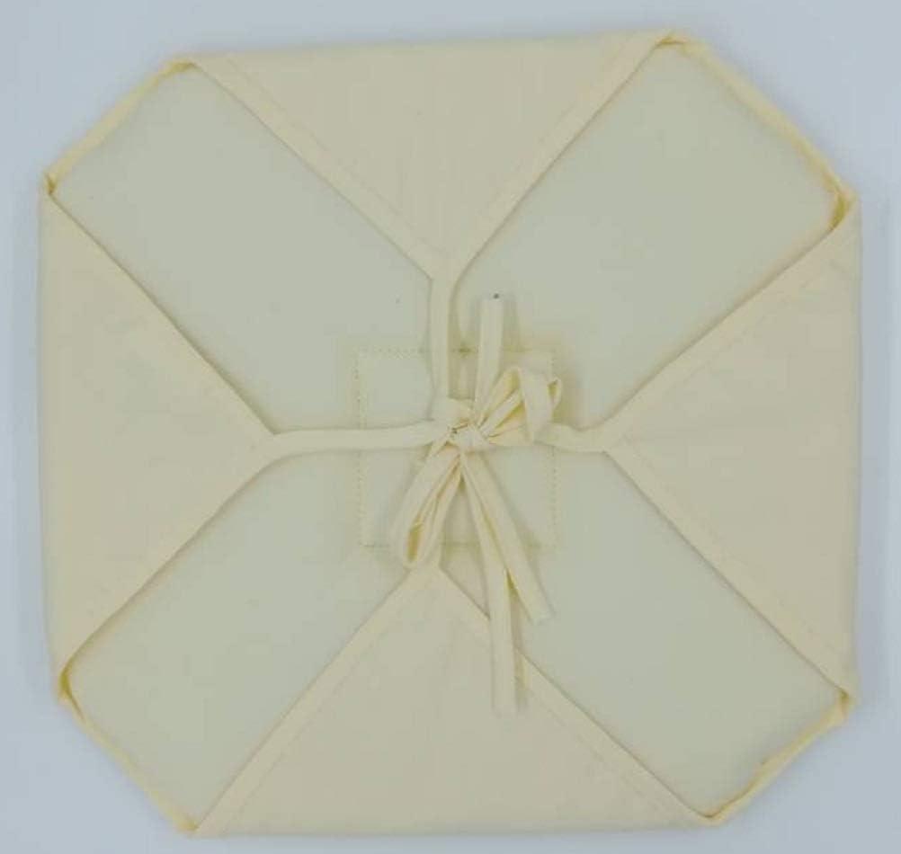 Alpes Blanc Lot de 6 galettes de Chaise Axel//Dessus de Chaise Unis//Galette de Chaise carr/ées Naturel