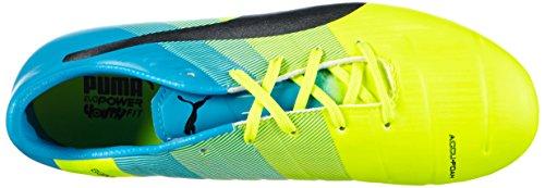 Puma Evopower 1.3 Fg Jr - Botas de fútbol Unisex Niños Amarillo - Gelb (safety yellow-black-atomic blue 01)