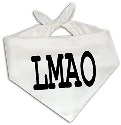 LMAO – Dog Bandana One Size Fits Most – Funny Joke Humor Gag Abbreviation
