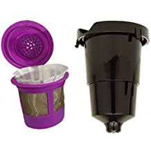 Brand New QUALITY GENERIC SET of Keurig K-Cup Holder and Needle Replacement Part with Refillable Reusable Coffee or Tea Filter Cup, 100% BPA Free