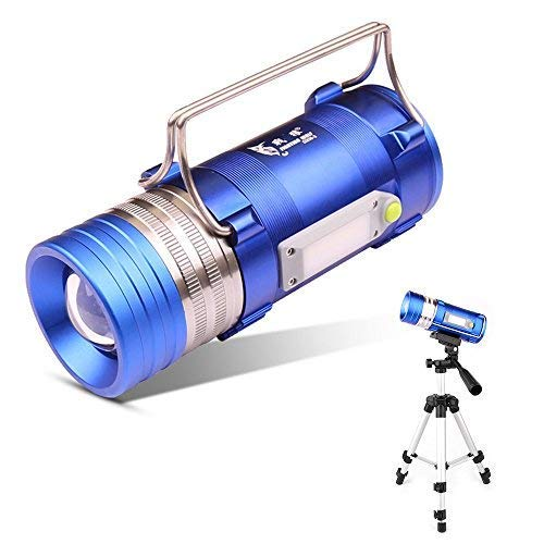 Aibay Outdoor Super Bright Handheld LED Spotlight with Tripod, Professional Waterproof Multi-Functional Lamp Four LED Light Modes,Perfect for Fishing Hunting Camping