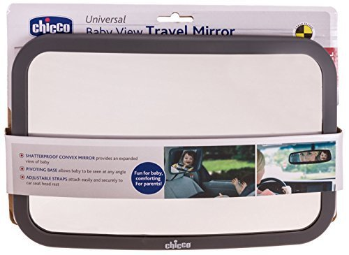 Chicco Universal Shatterproof Backseat Baby Mirror Mom Watch Child in Car Seat Adjustable Convex Grey