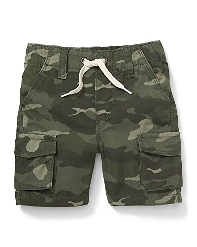 Summer Hot Sale Cargo Pull-On Canvas Shorts for Toddler Boys (Green Camo, (Old Navy Green Camo)