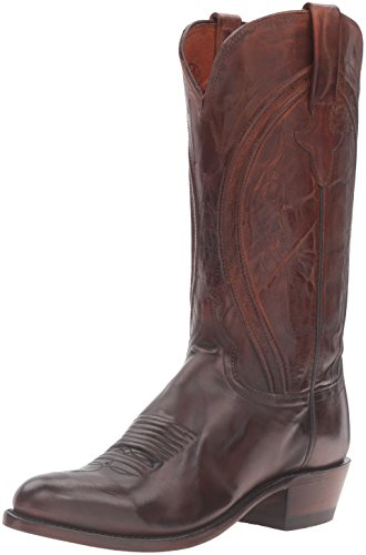 Lucchese Bootmaker Men's Clint-ant Pb Md Goat Riding Boot Antique Peanut Brittle 9 D US