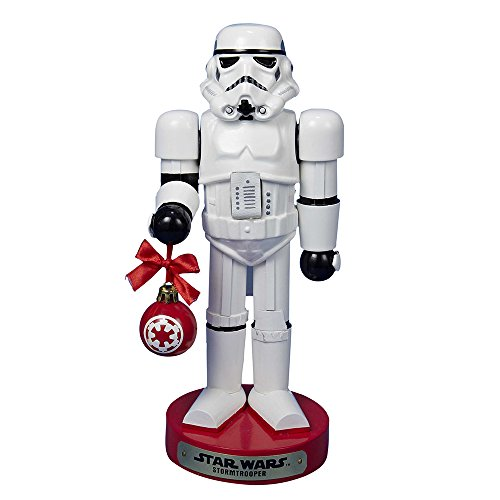 Kurt Adler Stormtrooper with Ball Ornament Nutcracker, 12-Inch
