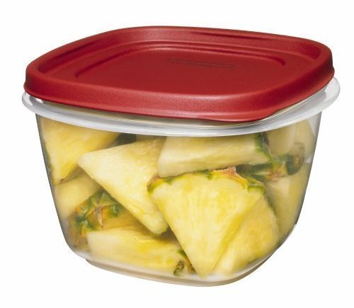 Lids Square 7-Cup Food Storage Container (Pack of 3) (Rubbermaid Stackable Storage)