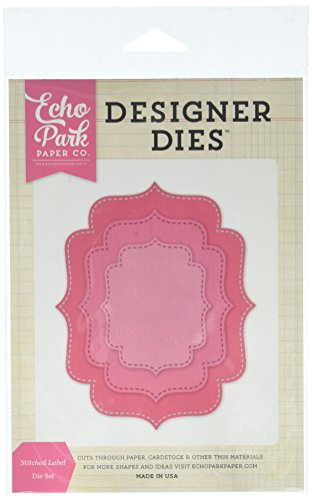 Echo Park Paper Company EPPDIE606 Stitched Label Nesting Die Set Stitched Label Nesting Die Set