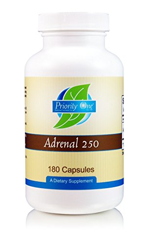 - Priority One Vitamins Adrenal 250mg 180 Capsules Adrenal Support