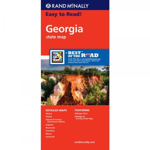 Rand McNally Easy To Read: Georgia State Map