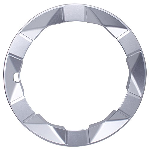 OxGord Trim Ring for Toyota Prius (Single Piece) 15 Inch Wheel Hub Replacement Silver Beauty Ring Cover by OxGord (Image #1)
