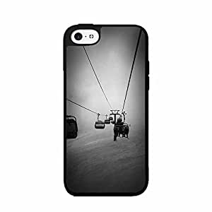Dark Skies Chair Lift Plastic Fashion Phone Case Back Cover iPhone 4 4s comes with Security Tag and MyPhone Designs(TM) Cleaning Cloth by icecream design