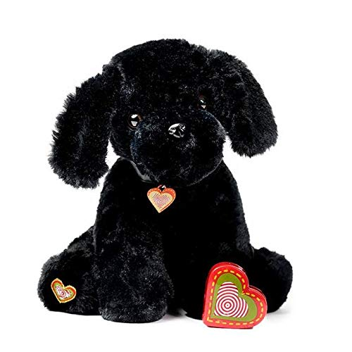 My Baby's Heartbeat Bear Furbaby's: Black Puppy Stuffed Anial with 20 Second Voice Recordable Heart - Blcak ()