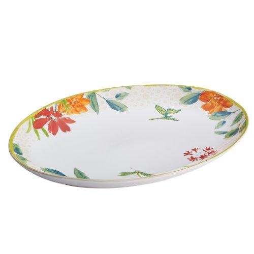 14 Inch Stoneware Platter (BonJour Dinnerware Al Fresco Stoneware 9-3/4-Inch x 14-Inch Oval Platter)