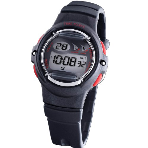 Reloj TIME FORCE digital de niño/a/cadete Sumergible. Crono, Alarma y Luz. Caucho negro. TF-3235B01: Amazon.es: Relojes
