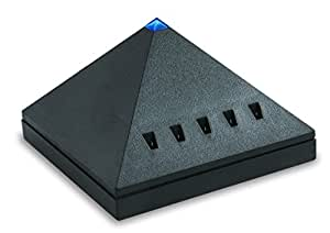 Bodi-Tek BT-IONP-BK-EU - Ionizador piramidal, rango para 5 m, color negro