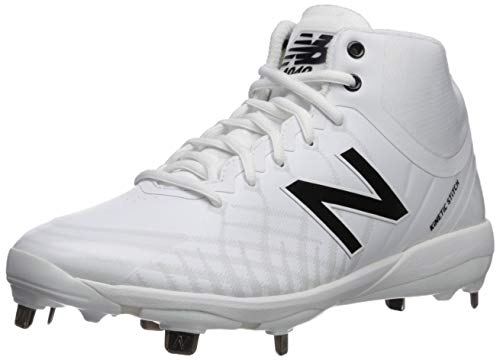 New Balance Men's 4040v5 Metal Baseball Shoe, White, 13 XW US