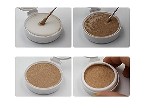 15ml 0.5oz Empty Luxurious Golden Portable Make-up Powder Container Air Cushion Puff Case Holder with Powder Puff and Mirror Refillable Make Up Foundation BB Cream Box erioctry