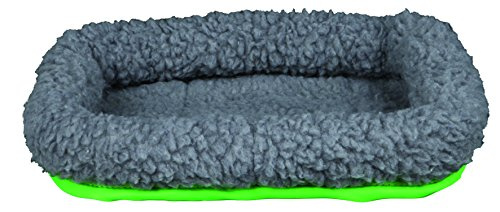 Beaded Guinea Pig - Trixie Pet Products 62702 Cuddly Bed for Small Animals, Green/Grey, 30 x 22cm