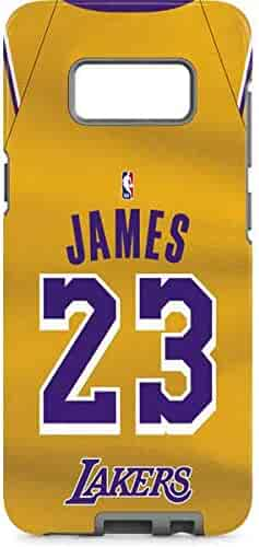 5cf003fb25e Skinit NBA Los Angeles Lakers Galaxy S8 Plus Pro Case - LeBron James Lakers  Jersey Design