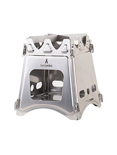 Price comparison product image WoodFlame Ultra Lightweight Portable Wood Burning Camping Stove, Backpacking Stove, Stainless Steel with Nylon Carry Case - Perfect for Survival Packs & Emergency Preparedness by kampMATE