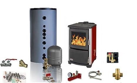 Agua Líder automático Madera & Carbón estufa Teba T de 17 – 14 – 20 KW