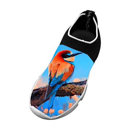 Bee-Eater Bird Flyknit Shoes Light Sports Free Running Shoes For Kids