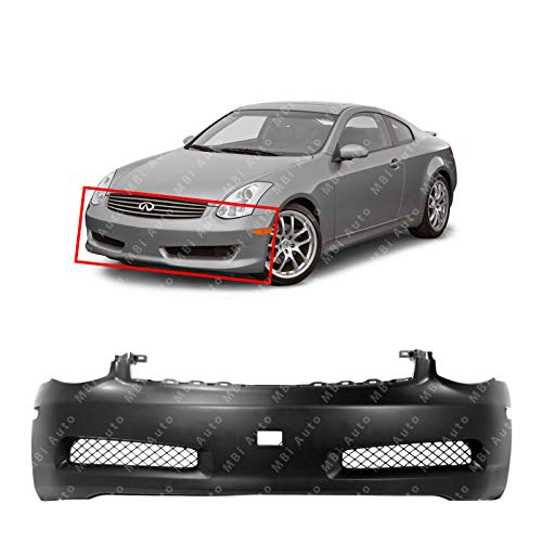 MBI AUTO - Primered, Front Bumper Cover Fascia for 2003-2007 Infiniti G35 Coupe 2-Door 03-07, IN1000122
