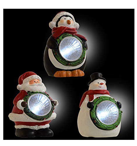 Solar Power Christmas Snowman Light in US - 3
