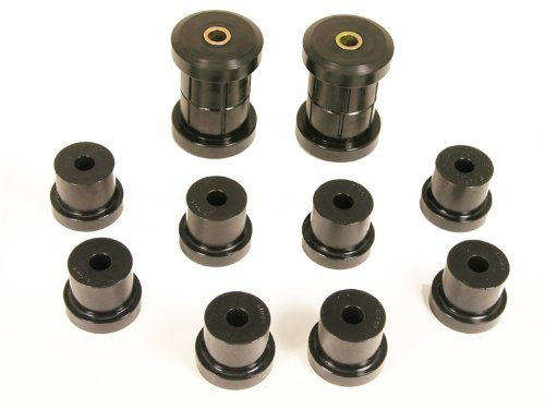 - Prothane 7-1011-BL Black Rear Multi Leaf Spring Eye and Shackle Bushing Kit