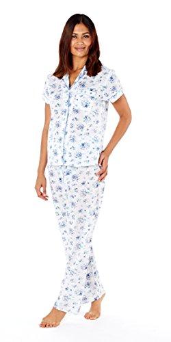 Lady Selena - Pijama - para mujer Floral Blue (LN582)