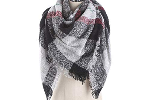 and scarf mohair loop yarn mosaic square scarf ies warm on scarf,hei,onesize