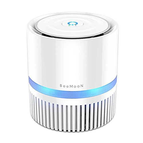 Air Purifier, BeeMoon Compact Air Cleaner with True HEPA Filter Removing Allergens, Dust & Pollen, Smoke and Pet Dander, 100% Ozone Freemoke and Pet Dander by Beemoon