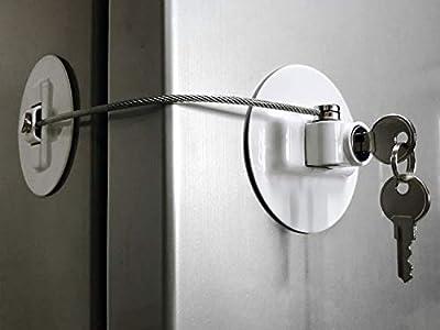 MUIN Refrigerator Door Lock with?2 Keys - White